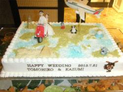 世界旅行ケーキ